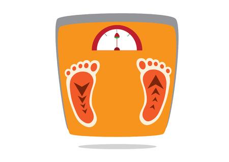 apparatus: Orange weighing apparatus,vectors ,illustrations