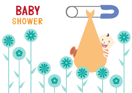 baby shower design. vector illustration Illustration