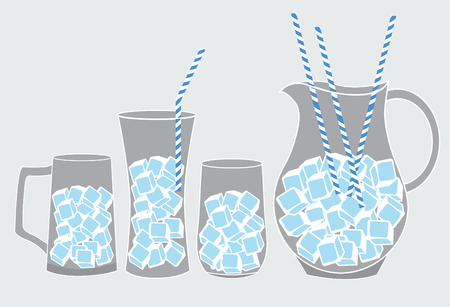 iced: cool glass of iced,vector illustrations Illustration