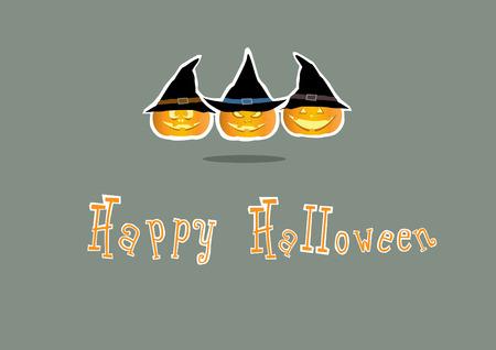 smilling: Happy halloween card, Halloween pumpkins