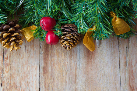 christmas backgrounds: Christmas decoration on wooden backgrounds