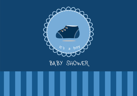baby shoes: Cute baby shoes on greeting card,Design of baby shower cards