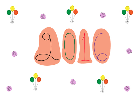 newyears: Design for happy new year greeting cards,Vector illustrations Illustration