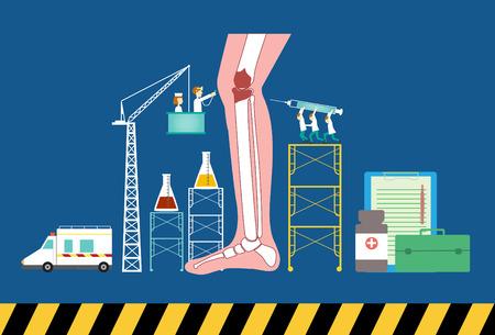 egészségügyi ellátás: Design of health care concept Illusztráció