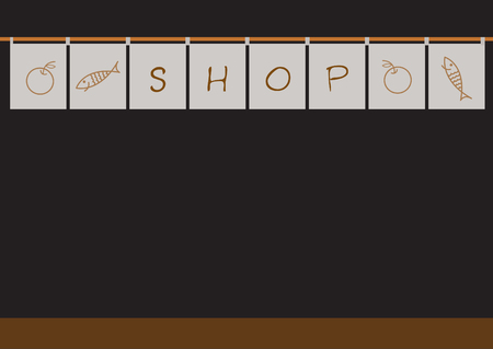 japanese shop,vector illustration