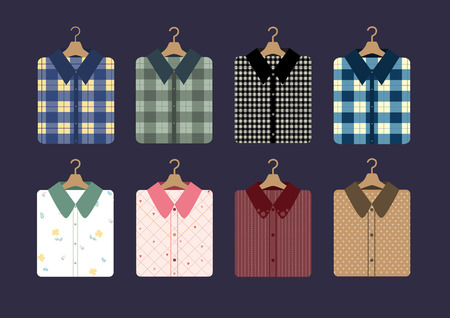 hangers: shirt fashion on hangers,Vector illustrations