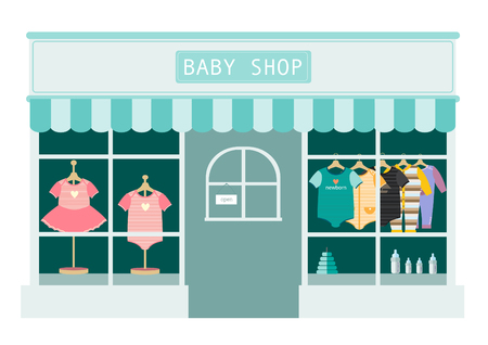 children clothes shop ,shops and stores icons,Vector illustration Ilustracja