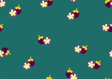 mangosteen: Background from the cut mangosteen,Pattern fruits,Vector illustrations