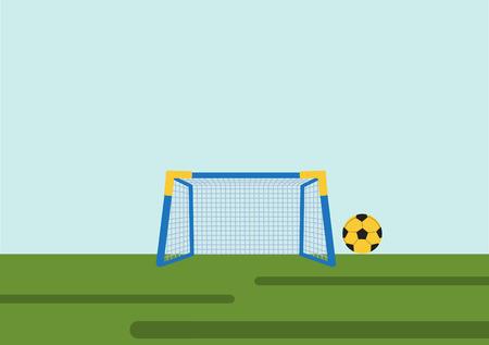 soccer goal: Soccer Goal with ball ,Vector illustrations Illustration
