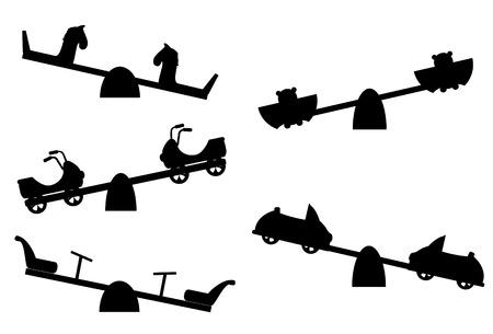 Set di silhouette vedi sega su sfondo bianco