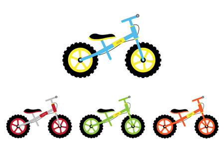 Set of kid bicycle,Vector illustrations