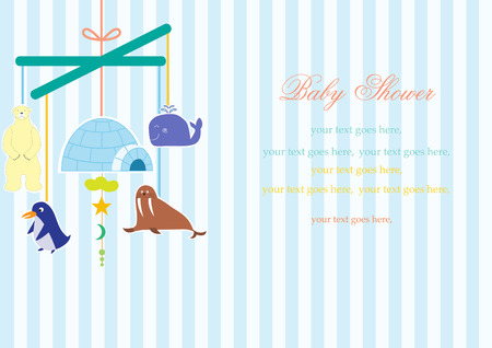 hanging toy: Baby crib hanging toy on stripe backgrounds