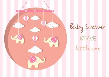 hanging toy: Baby crib hanging toy on stripe backgrounds,Vector illustrations