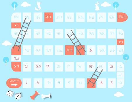 Brettspiele, Leitern Spiel, Vektor-Illustrationen Standard-Bild - 62836281