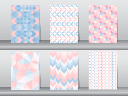 fabric textures: Set of seamless pattern retro style,template,Vector illustrations Illustration