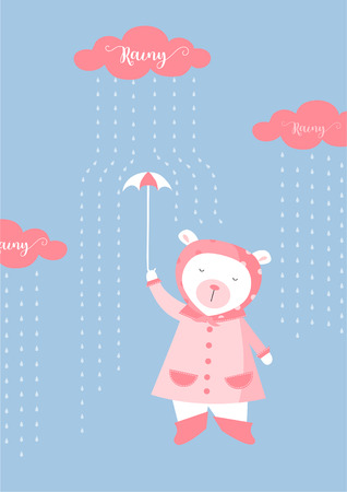 Cute animals poster,template,cards,bear,Vector illustrations