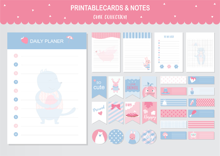 Set of animals and cute vector cards,bears,baby shower,printable,  tags,cards,templates,Notes, Stickers, Labels,Scrap booking, Congratulations, Invitations,Vector illustrations