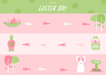 Frame of board Easter game, Vector illustrations