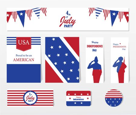 Happy independence day 4 th july, United states of america day. Layout, design, template.Vector illustration.