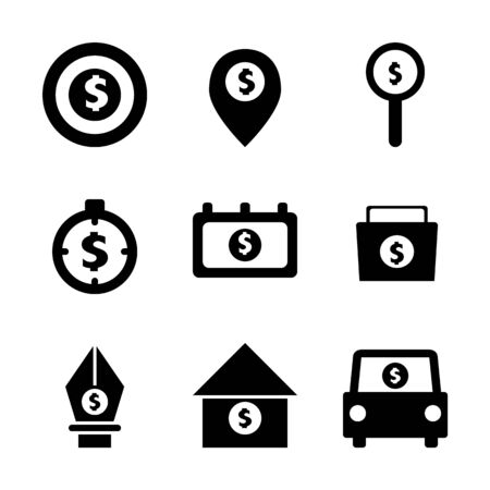 Business and Financial investment icons,symbols,Vector illustration.