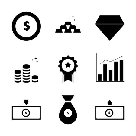 Business and Financial investment icons,symbols
