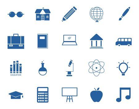 Education icon set,Flat design,symbol,Vector illustrations.