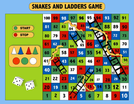 Ladder snakes game,Funny frame for children