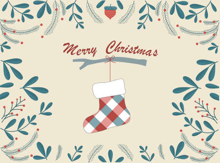 Christmas and Happy New Year greeting cards,Vector illustrations.