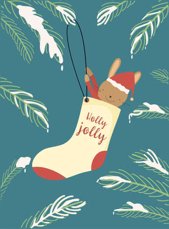 Christmas and Happy New Year greeting cards,cute cards,Vector illustrations.