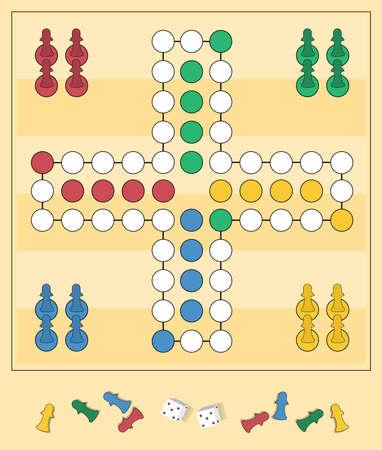 Frame of board game ,Funny frame,Board games,Vector illustrations.