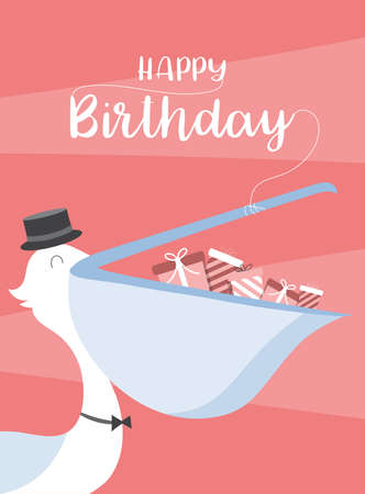 Design for birthday cards,poster,invitation,template,greeting cards,animals,cute,Vector illustrations Illustration