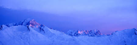 mont: Winter sunrise over the alps
