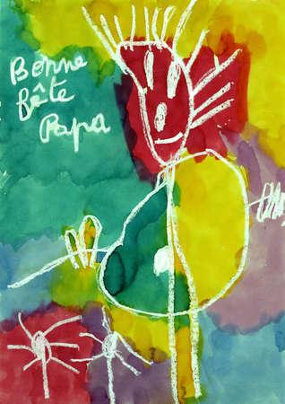 ser humano: dibujo del ni�o que representa un ser humano