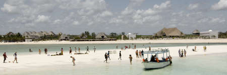 sandbar: At the beach Stock Photo