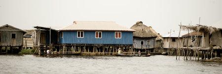 The Stilt village of Ganvie in Benin Stock Photo