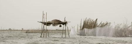 Stilt hut on the lagoon of Gavie in Benin Stock Photo - 3055500
