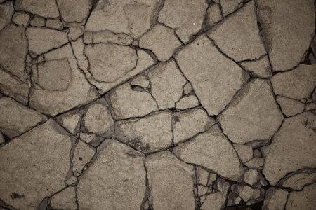 craquelure: Close-up of Craquelure in concrete Stock Photo