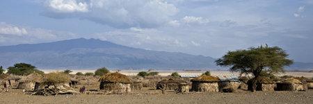 tanzania: Traditional huts in African village, Tanzania