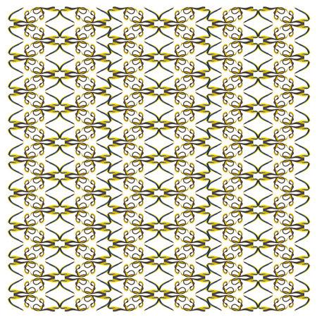 Ribbon Eel, Rhinomuraena quaesita, in repeated pattern, in front of white background Standard-Bild