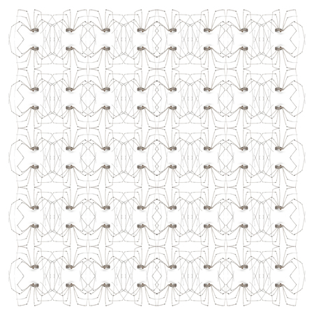 Spider, Holocnemus pluchei, in repeated pattern, in front of white background
