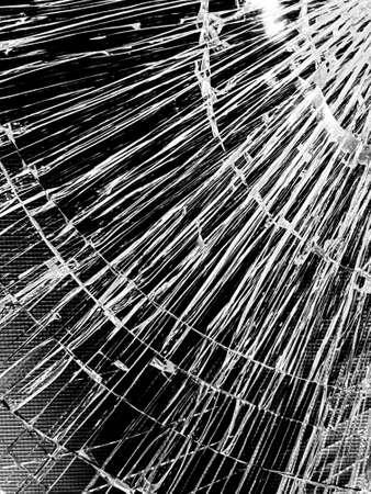 Black and white broken glass textured background 版權商用圖片