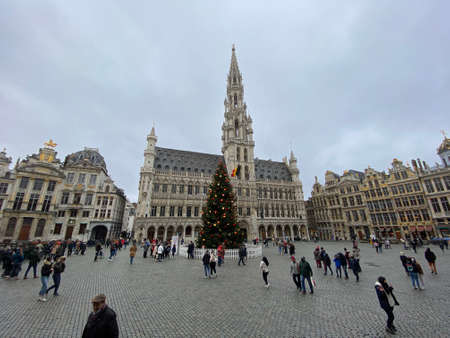 Brussels, Belgium, 29 december, 2020, Grand-place of Brussels