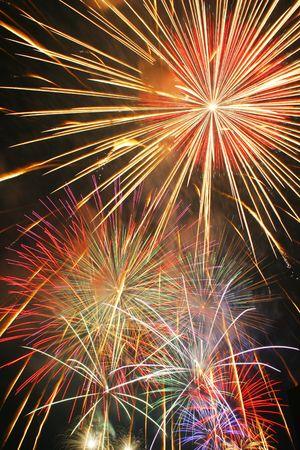 sparking: sparking fireworks on celebration day