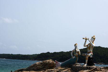 samet: one of landmark at Samet island Stock Photo