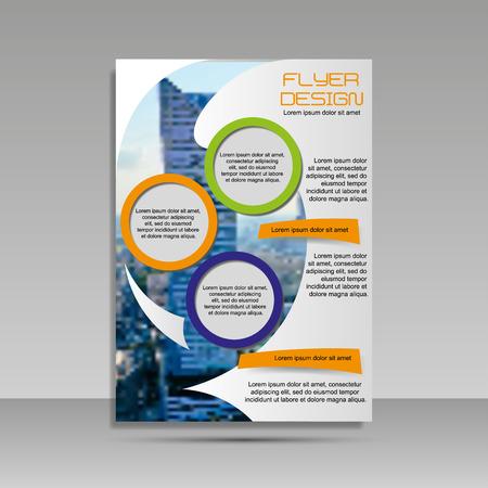 A4 minimal color design. Annual report, brochure, banner, idea cover booklet flyer