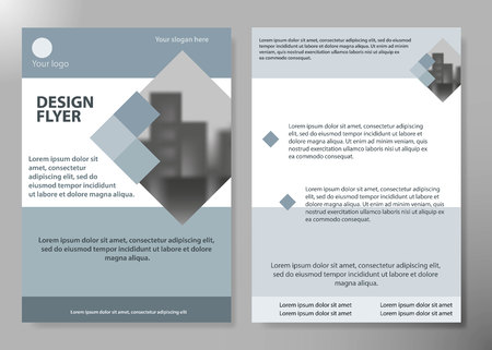 Minimal flyers report business magazine poster layout portfolio template.Brochure design template vector. Square layout in cover book portfolio presentation poster.City design on A4 brochure layout