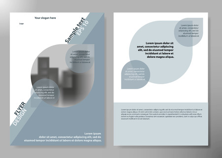 inimal flyers report business magazine poster layout portfolio template.Brochure design template vector. Circle layout in cover book portfolio presentation poster.City design on A4 brochure layout