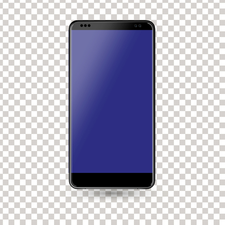 New phone front black vector drawing eps10 format isolated on white background - vector.