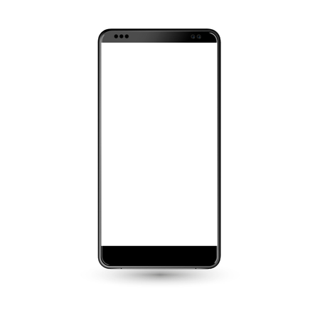 New phone front black format isolated on white background Illustration