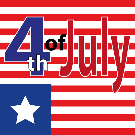 Fourth of July. Fourth of July celebration simple illustration. USA independence day. America freedom.
